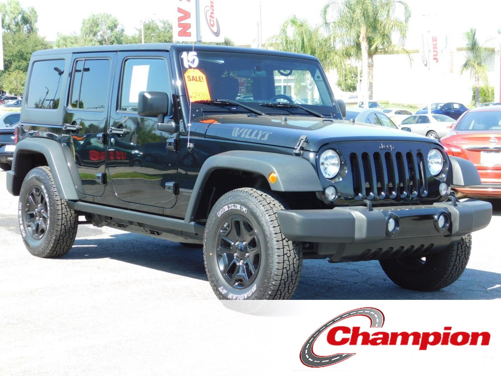 Pre Owned 2015 Jeep Wrangler Unlimited Willys Wheeler Convertible In